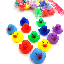 Load image into Gallery viewer, 12pcs Mini Colorful Duck Bath Float