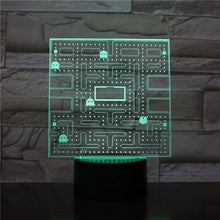 Load image into Gallery viewer, PAC-MAN LED Night Light Multicolor