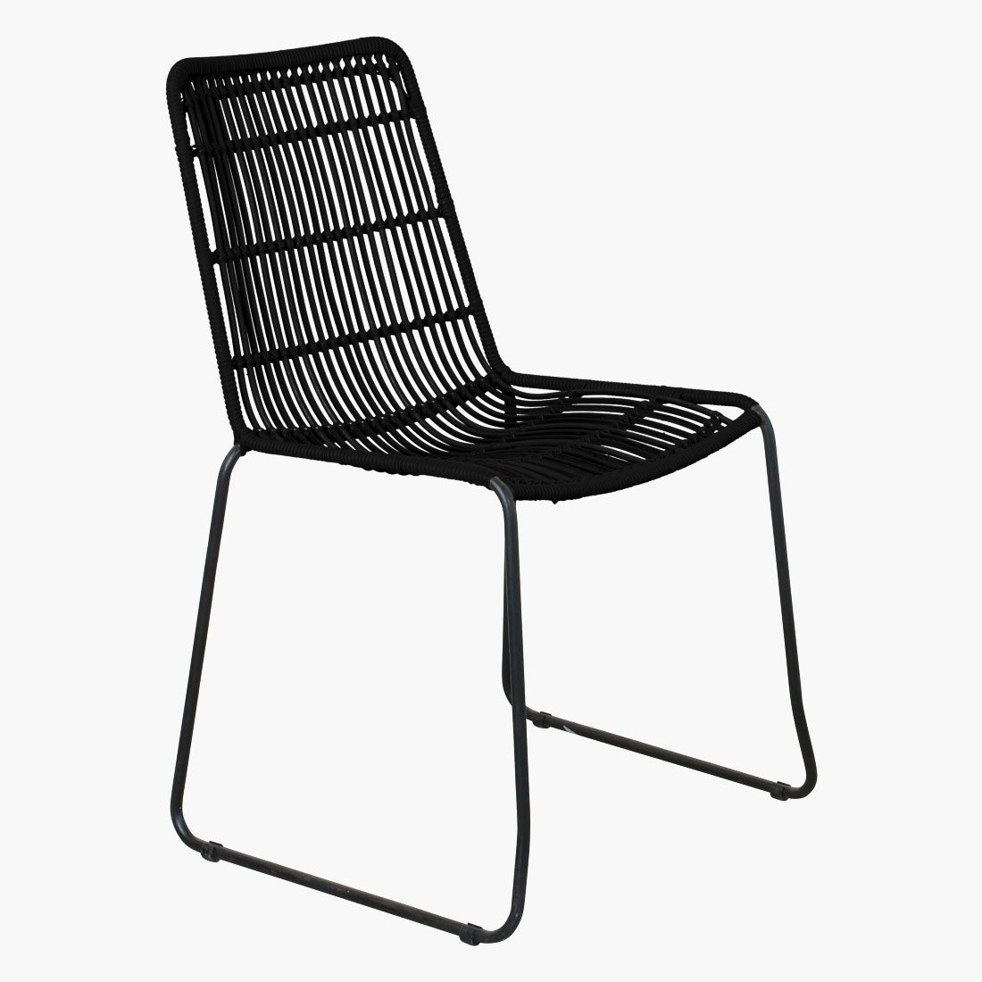 Jane slim outdoor chair black