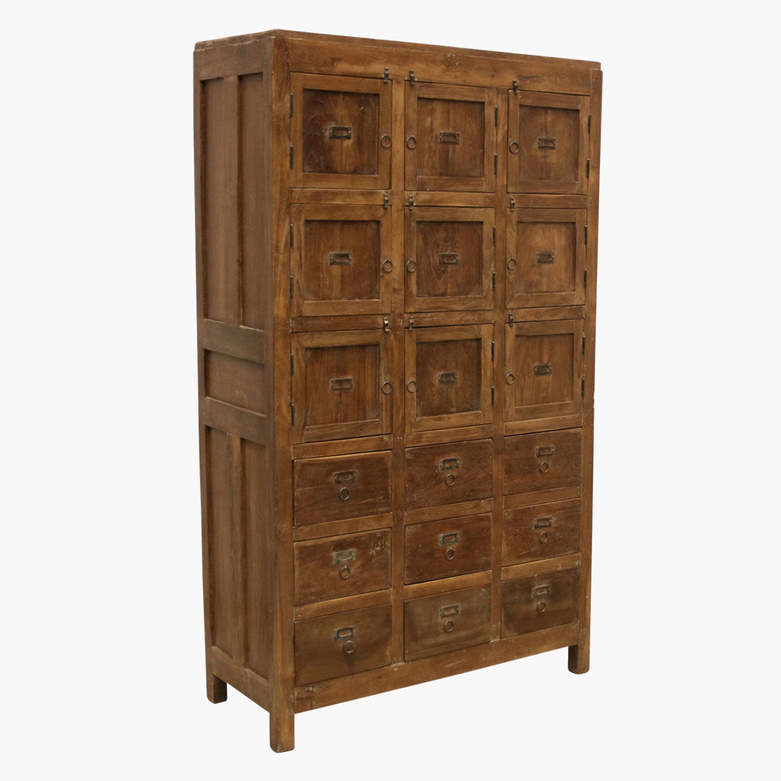 Teak 9 door 9 drawer cabinet