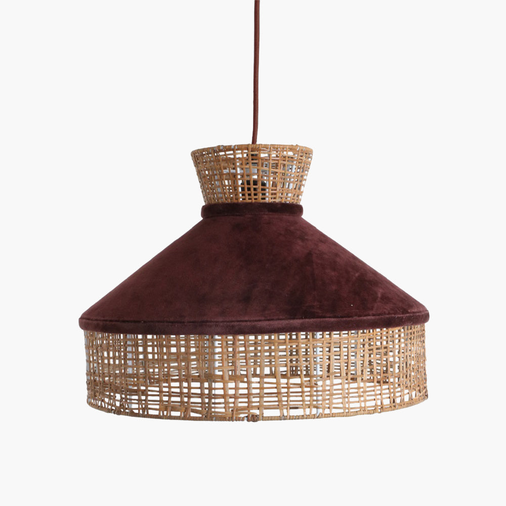 Velvet lamp shade burgundy