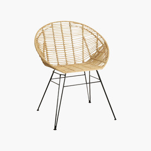 Jane bucket chair natural