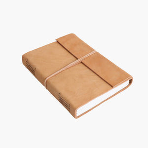Nat. buffalo leather travelbook XL