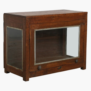 Teak large showcase