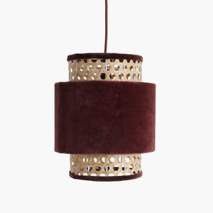 Velvet lamp cilinder small burgundy