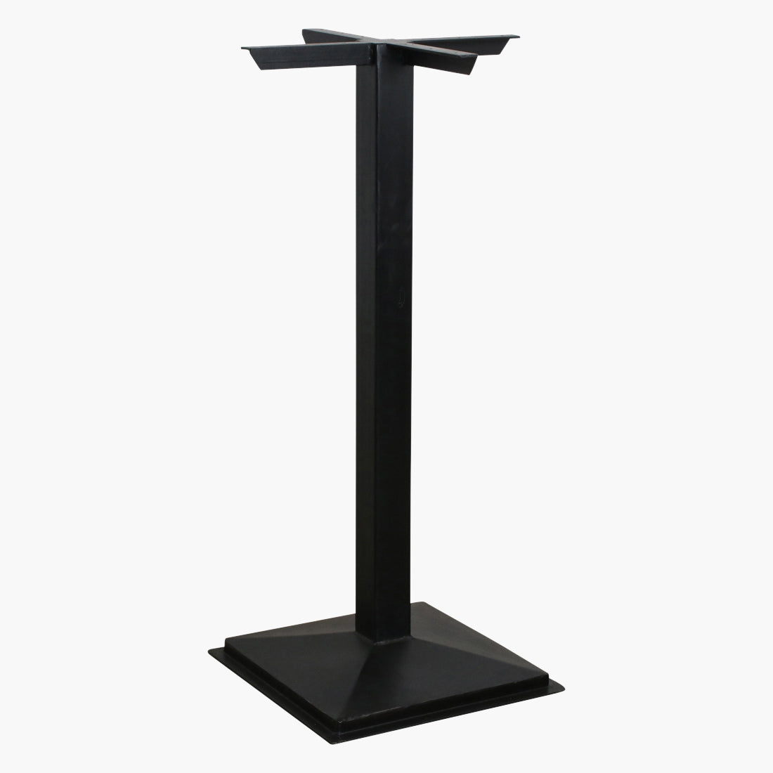 Bar table base square black