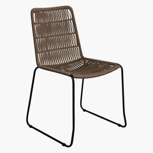 Rope slim dining chair natural
