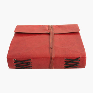 Vora leather travelbook RED