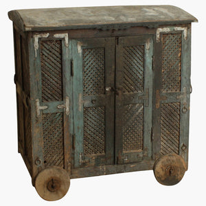 Original blue/grey cabinet on wheels