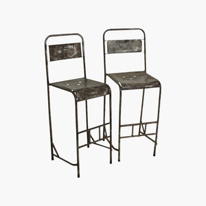 Java iron bar chair silver