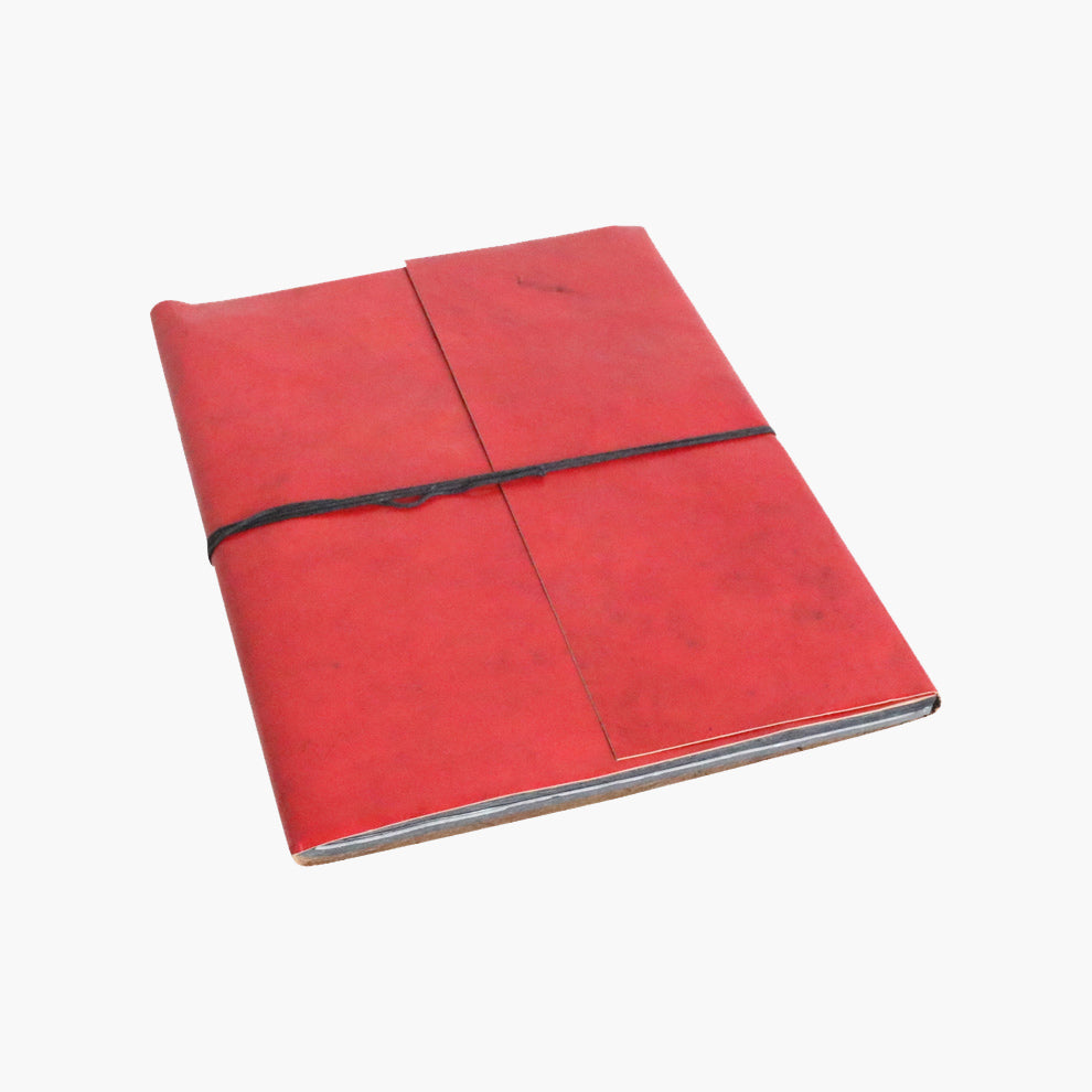 Vora leather BM photo album RED