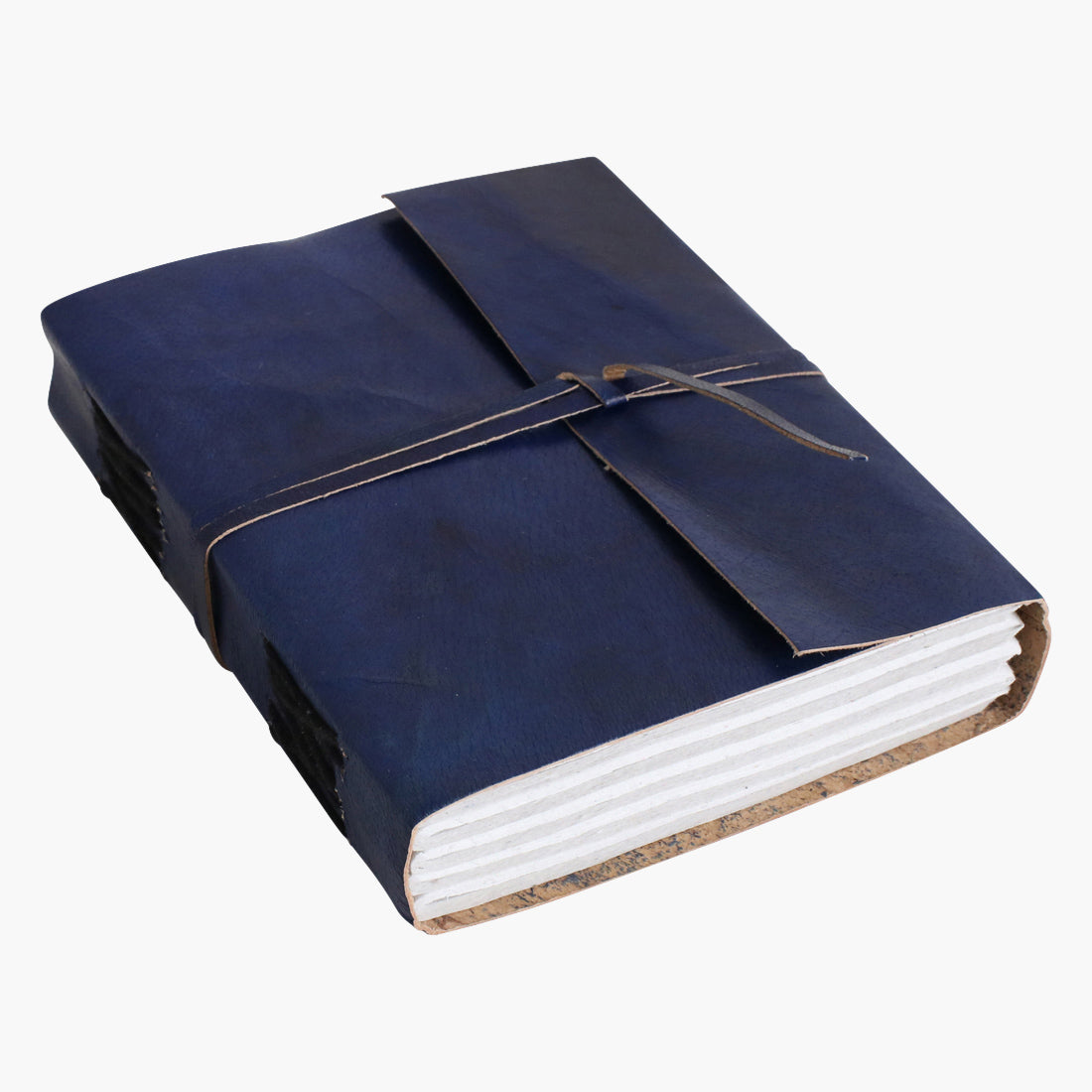 Vora leather travelbook BLUE