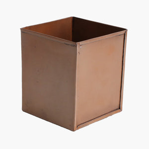 Square box high antique copper finish