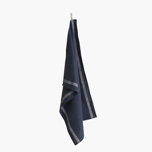 Tea towel set/2 big lines (dark blue)