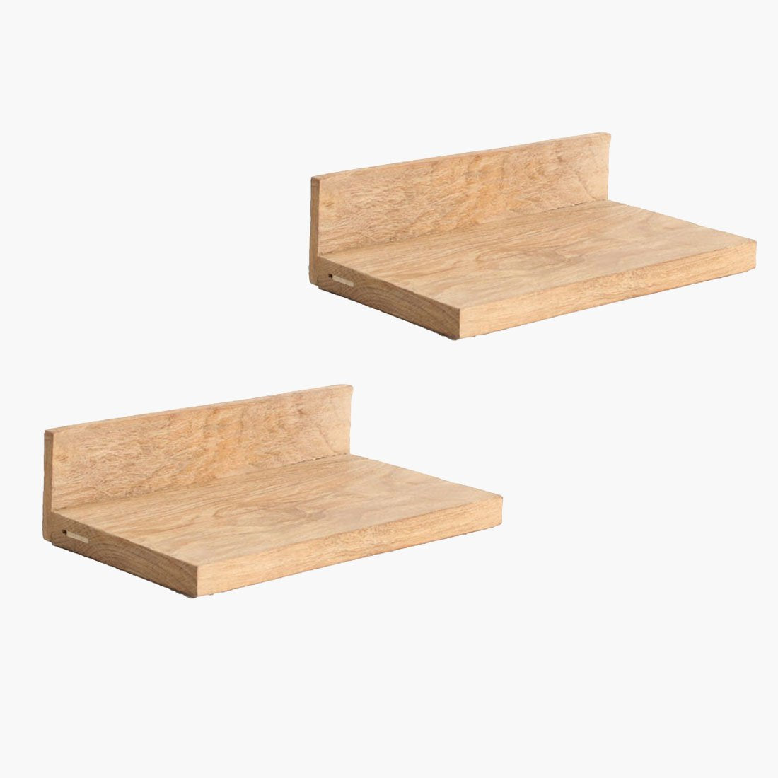 TEAK WALL SHELF SMALL SET/2