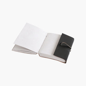 Vora leather travelbook BLACK