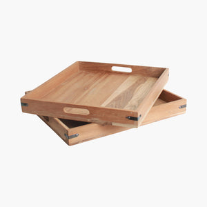 Elements serving tray upright edge
