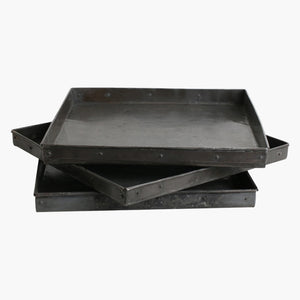 Metal tray square