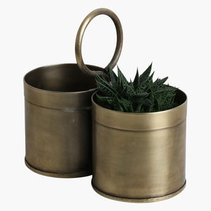 Brass vegetable holder double