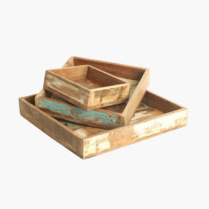 Scrapwood square tray small