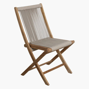 Rope folding chair natural