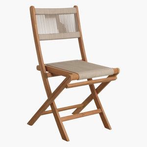 Rope folding bistro chair natural