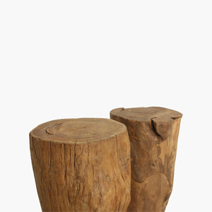 Trunk stool natural