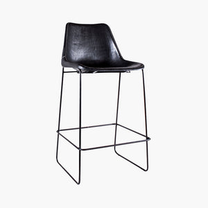 Sol Y Luna bar chair black leather