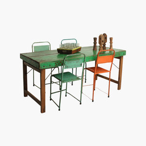 Dining table folding green