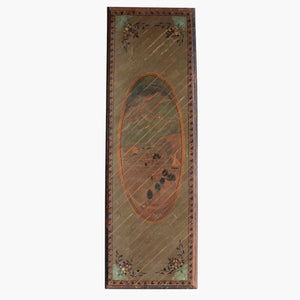 Old painted wooden ceiling plate