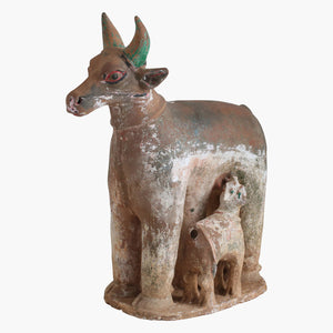 Stone large nandi + calf