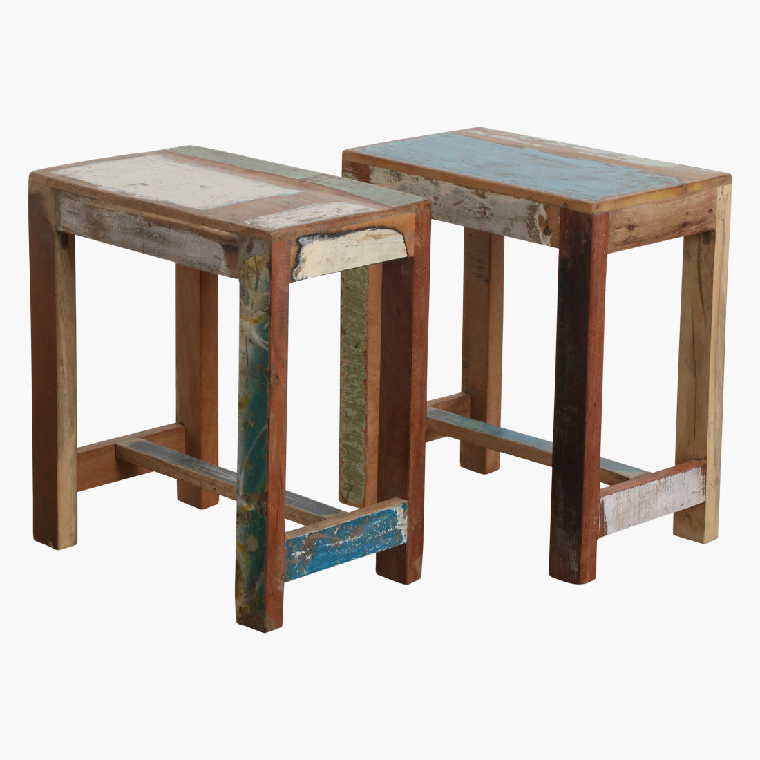 Scrapwood stool rectangular