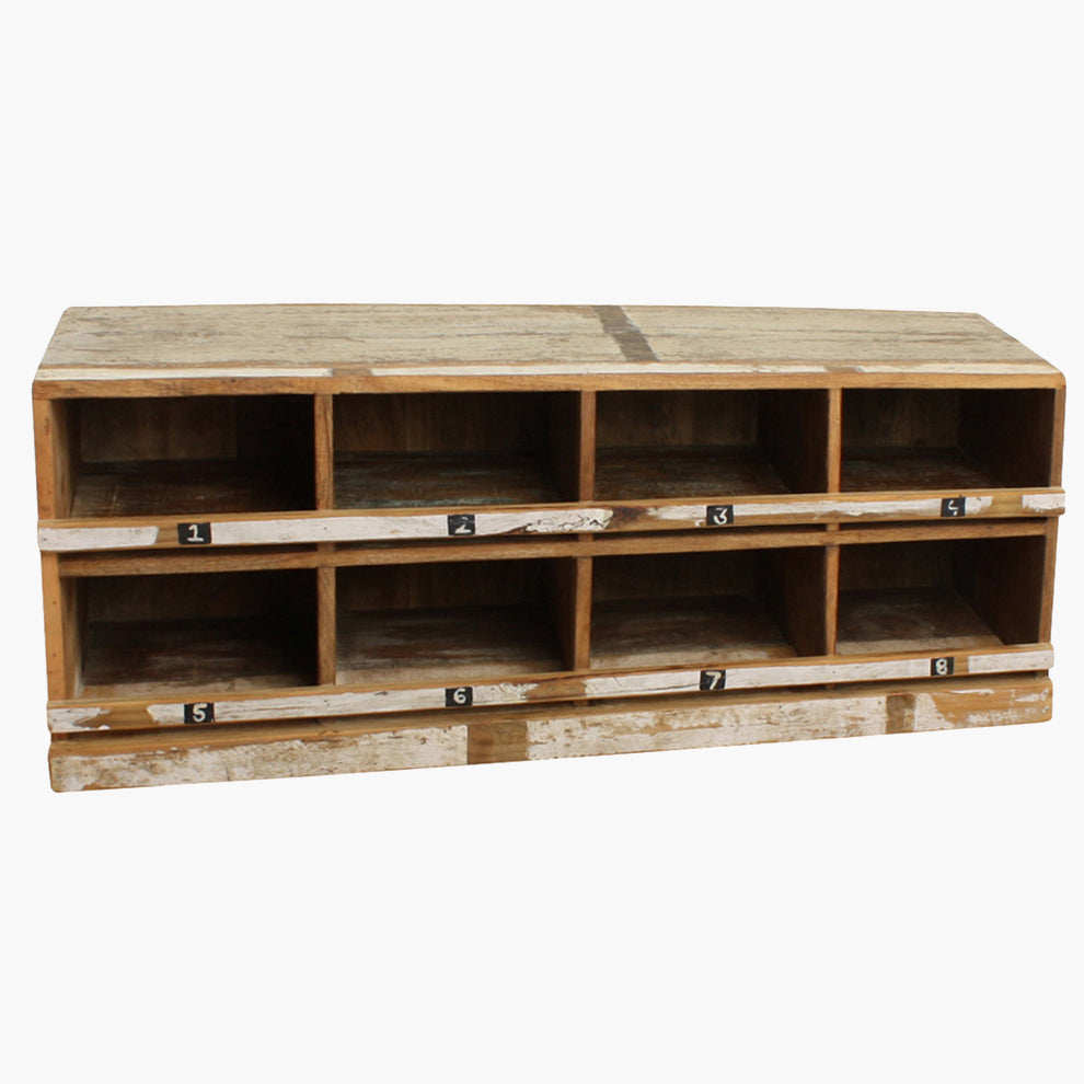 Scrapwood shoe rack white