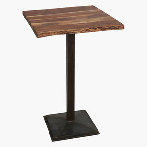Acaciawood curved table top 70x70cm