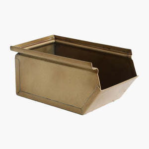 Storage box antique brass finish