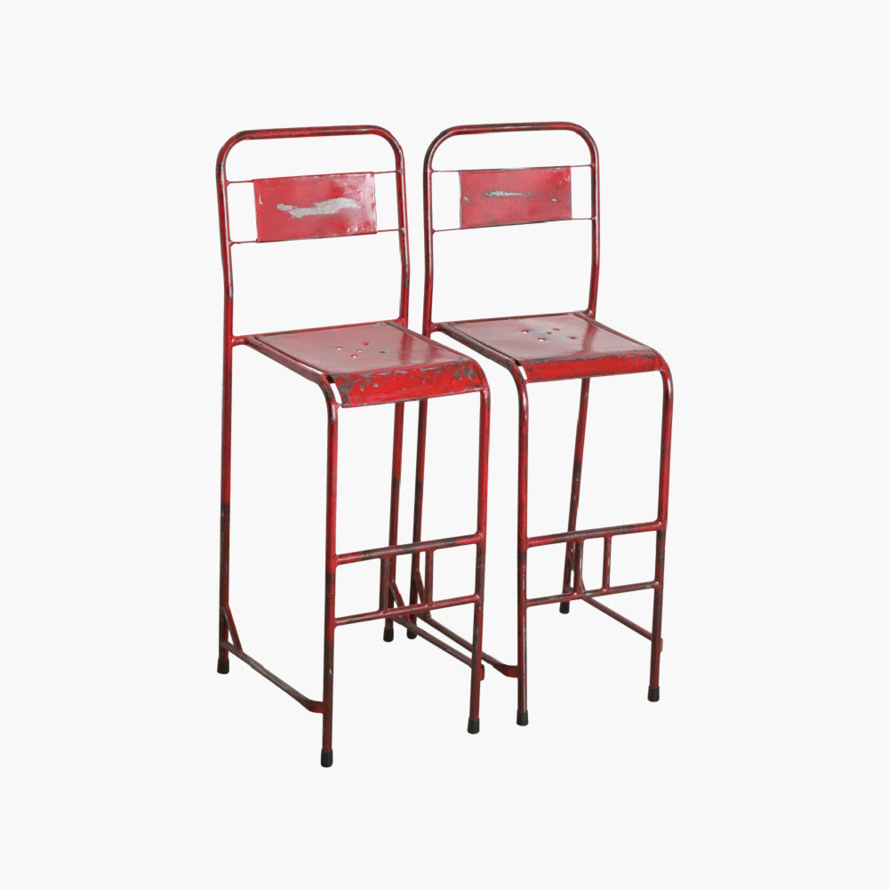 Java iron bar chair red