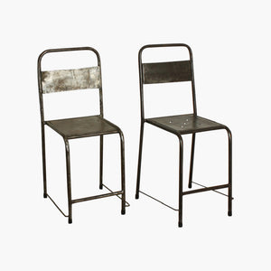 Java iron chair silver