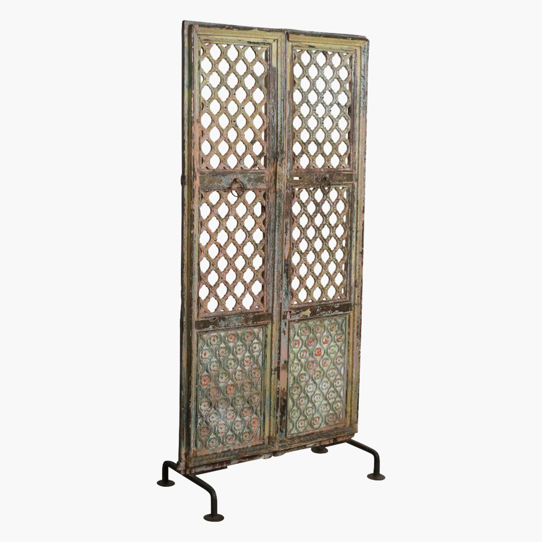 Temple door on stand multi colour bronze