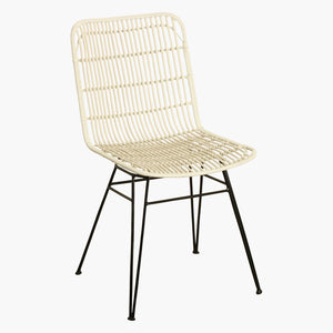 Jane outdoor chair white