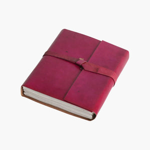 Vora leather travelbook PURPLE