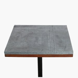 Factory market zinc table top 70x70 cm