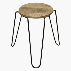 Vintage mango stackable stool hair-pin legs