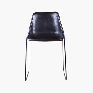 Sol Y Luna dining chair black leather