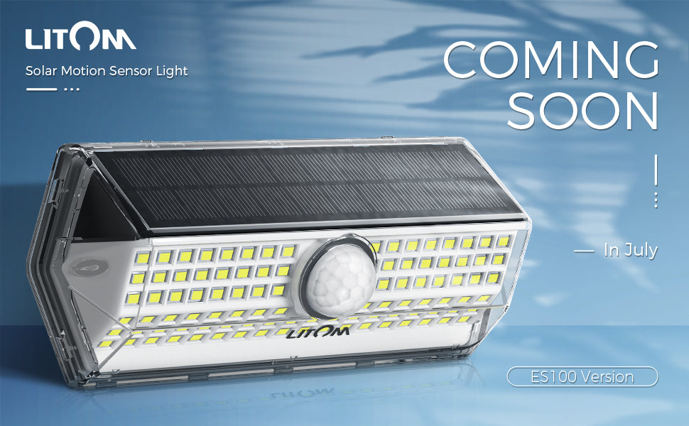 LITOM Latest Solar Motion Sensor Lights (ES100 Version)