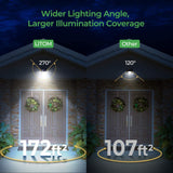 LITOM IP67 Waterproof 60 LEDs Wireless Solar Security Wall Lights