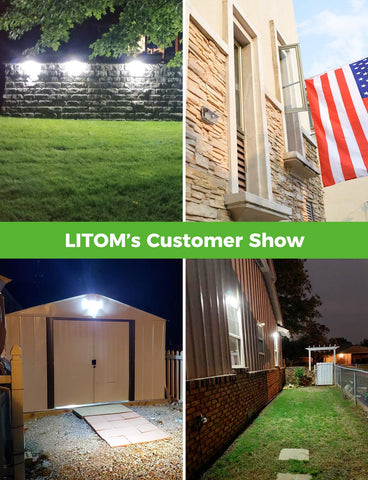 LITOM B-S215 Solar Lights Outdoor(160 LED)