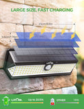 LITOM C-L198 Solar Lights Outdoor(122 LED)