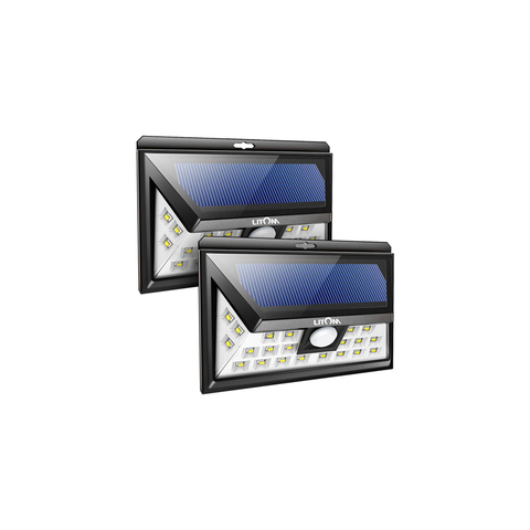 LITOM Original Solar Light Outdoor(2 Pack)