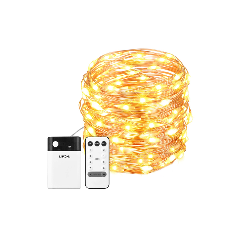33ft 100 LED String Lights with Remote Control