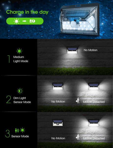 LITOM Original Solar Lights Outdoor(4 Pack)